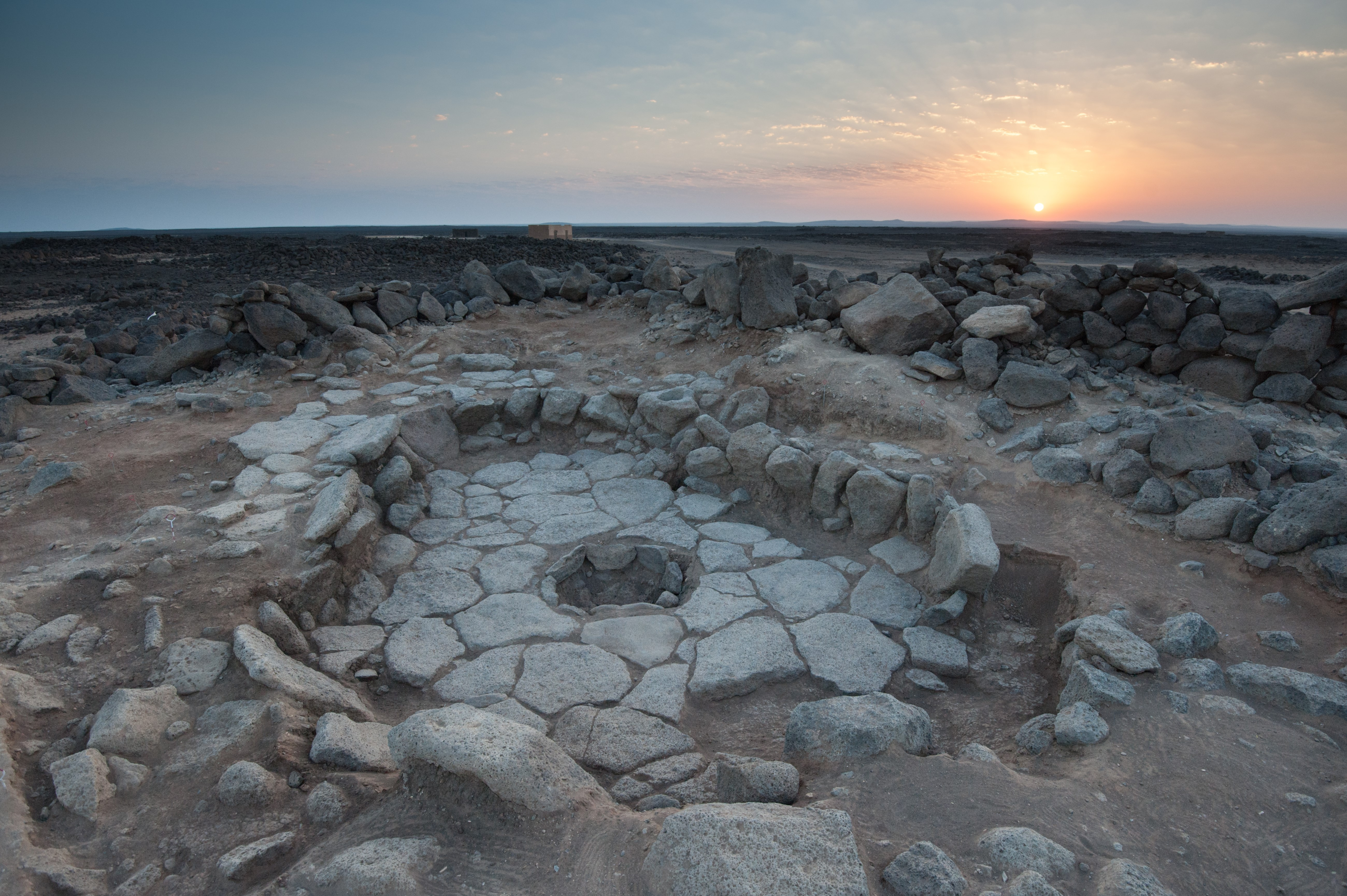 14,500 year old building at the Natufian site Shubayqa 1